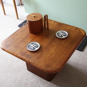 gilt & grain coffee table