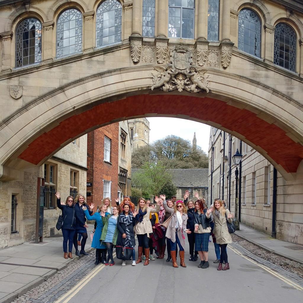 Bridge of Sighs Oxford group shot