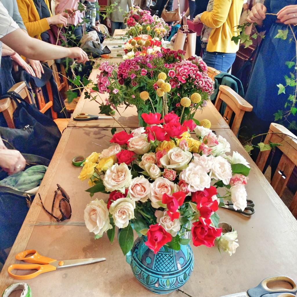 Petite Fleur flower crown workshop