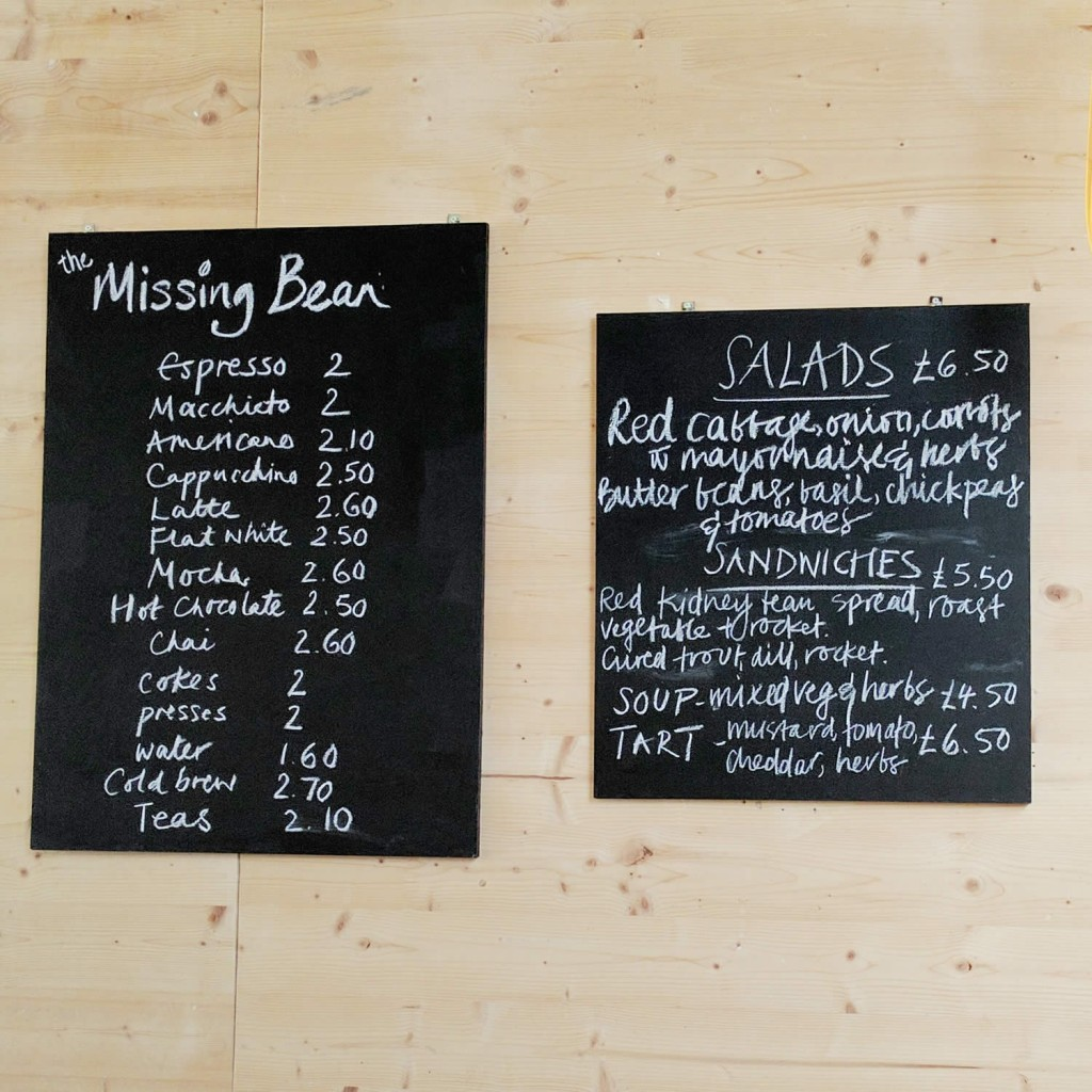 Handlebar Cafe Oxford Menu