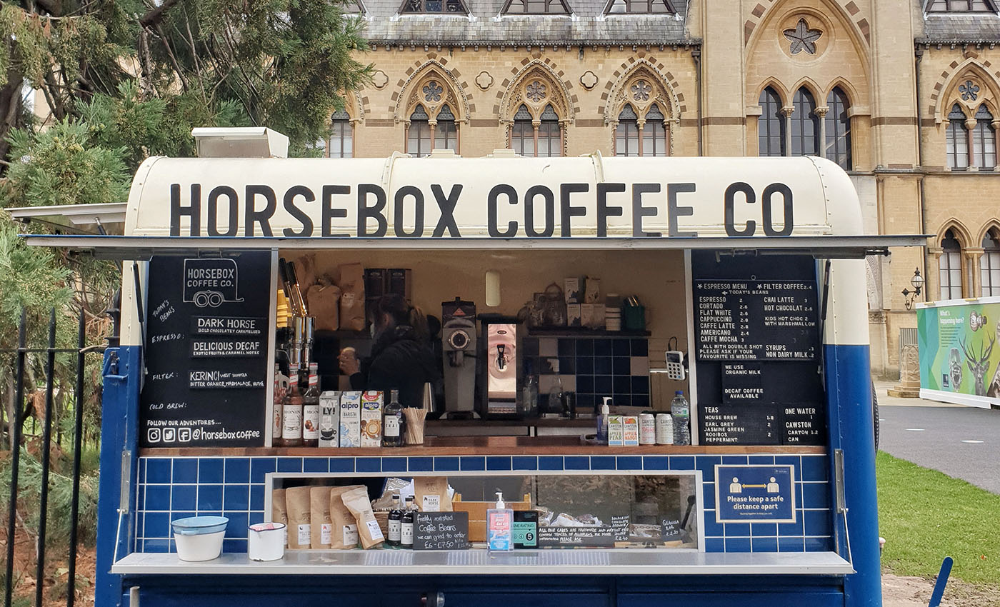 Horsebox Coffee at Museum of Natural History Oxford