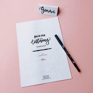 Brush Pen Lettering Workshop @ The Kidlington Centre, Unit 11 | England | United Kingdom
