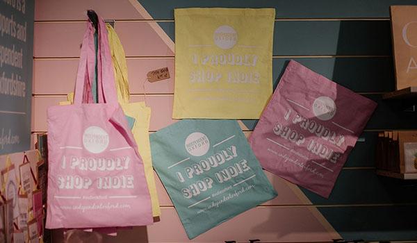 indie oxford tote bags