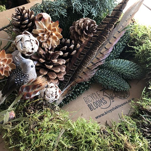 Bicycle Blooms Christmas wreath kit