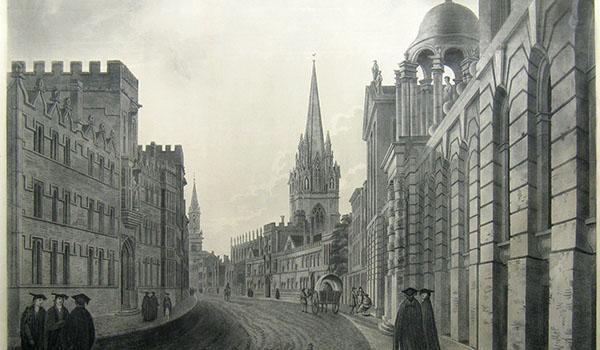 Sanders of Oxford High Street print