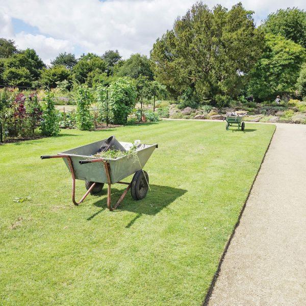 Oxford botanic gardens wheelbarrows