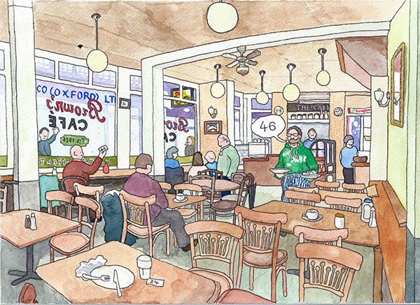Browns Cafe The Covered Market Oxford by Tim Kirtley