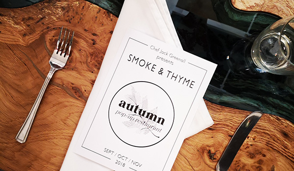 Smoke & Thyme Pop Up Restaurant Oxford