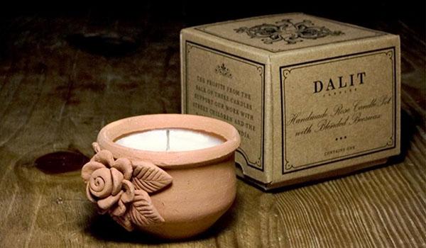 Indigo dalit candles