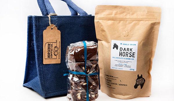 Horsebox Coffee Brownie gift bag