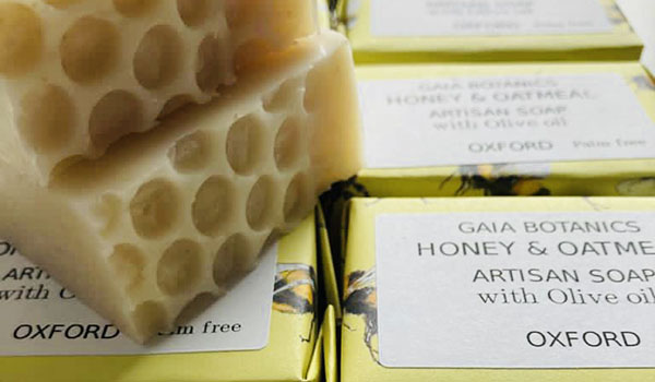 Gaia Botanics Oxford honey and oatmeal soap