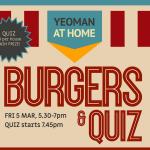 Oxfordshire Yeoman Burger and Quiz