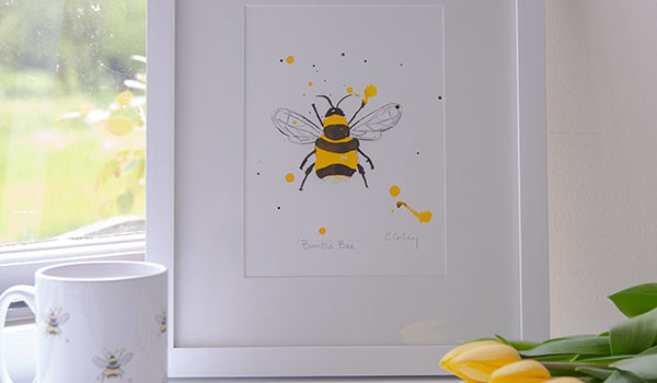 Liz Corley Art Oxford Bee Painting