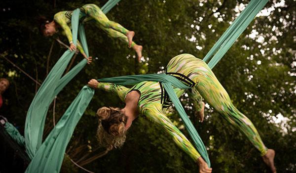 Treehouse Festival aerial silks