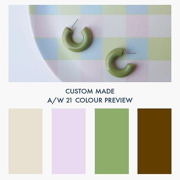 Custom Made Oxford SAL EARRINGS FIRST COLOUR DROP FOR AUTUMN